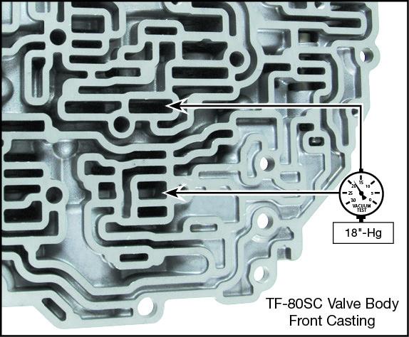 TF-80SC, TF-81SC C2 Clutch Control Valve Kit Vacuum Test Locations