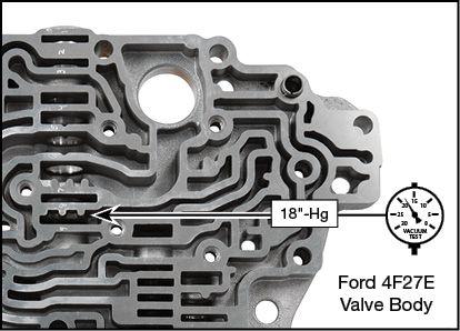 4F27E, FN4A-EL, FNR5, FS5A-EL Oversized Pressure Regulator Valve Kit Vacuum Test Locations