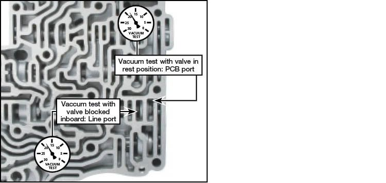 5R55N Oversized Reverse Engagement Valve Kit Vacuum Test Locations