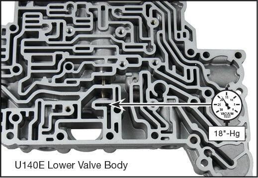 U140E, U140F, U240E, U241E Oversized Pressure Regulator & Boost Valve Kit Vacuum Test Locations