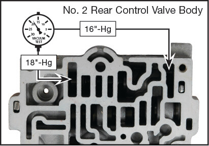 55-50SN, 55-51SN Oversized Lockup Control Valve & Boost Valve Kit Vacuum Test Locations