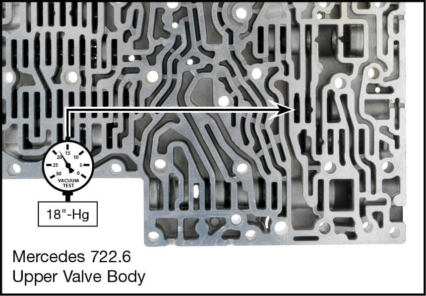 722.6 Oversized Lubricating Pressure Control Valve Kit Vacuum Test Locations