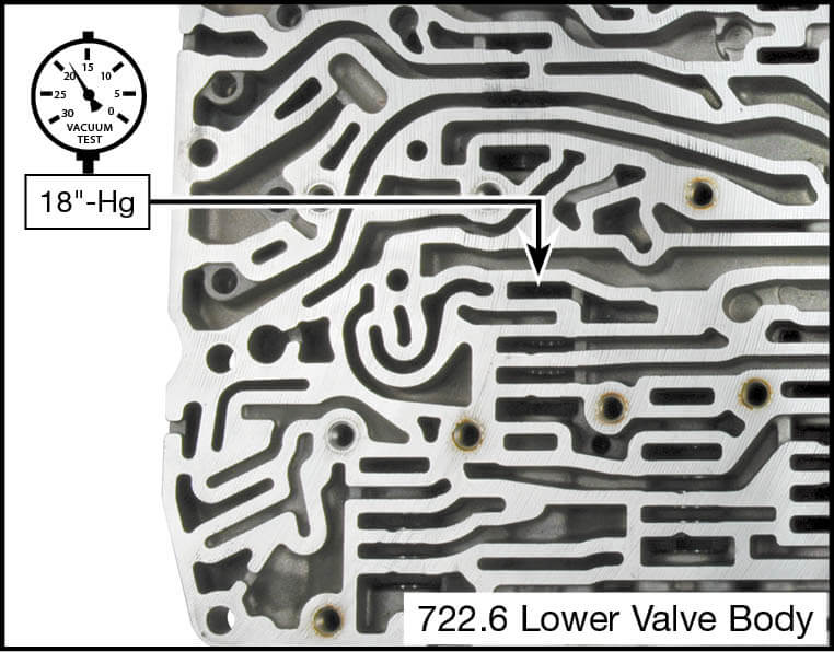 722.6 Oversized Regulating Valve Pressure Control Valve Kit Vacuum Test Locations