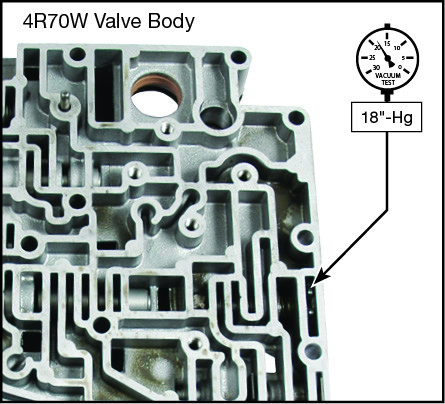4R70E, 4R70W, 4R75E, 4R75W Overdrive Servo Regulator Kit Vacuum Test Locations