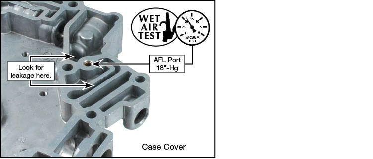 4T65-E AFL Valve Kit Vacuum Test Locations