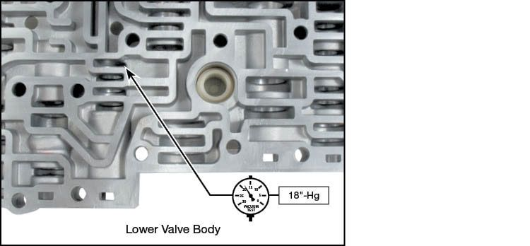 A4CF1, A4CF2 Pressure Reducing Valve Kit Vacuum Test Locations