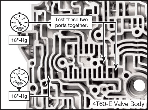 4T60-E, 4T65-E 2-3 Shift Valve Vacuum Test Locations