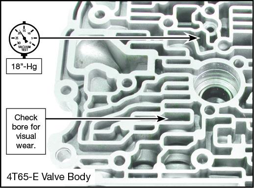 4T65-E TCC Apply Valve Kit Vacuum Test Locations