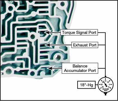 4T65-E 2-3 Accumulator Valve Kit Vacuum Test Locations