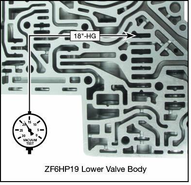 6R100, 6R60, 6R75, 6R80 (2009-2014), 6R80 (2015-Later), ZF6HP19, ZF6HP21, ZF6HP26, ZF6HP28, ZF6HP32, ZF6HP34 Oversized Converter Release Regulator Valve Kit Vacuum Test Locations