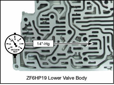 6R60, 6R75, 6R80, ZF6HP19, ZF6HP26, ZF6HP32 Oversized Solenoid Pressure Regulator Valve Kit Vacuum Test Locations