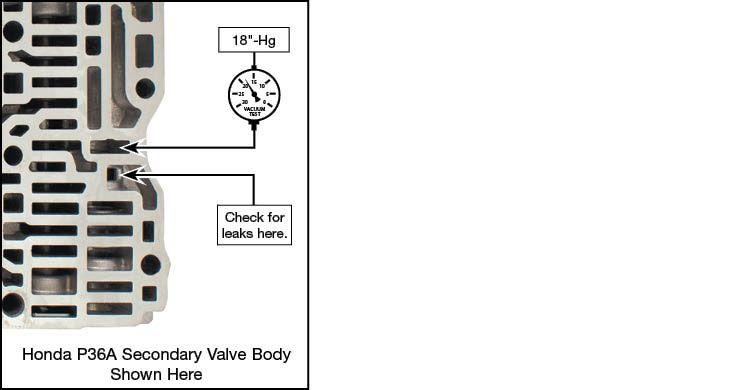 Honda, Acura 4-Speed, 3-Shaft, Honda, Acura 5-Speed Oversized CPC Valve Kit Vacuum Test Locations