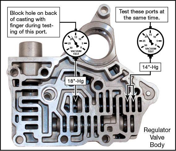 Honda, Acura 4-Speed, 3-Shaft, Honda, Acura 5-Speed Oversized Lockup Timing Valve Kit Vacuum Test Locations