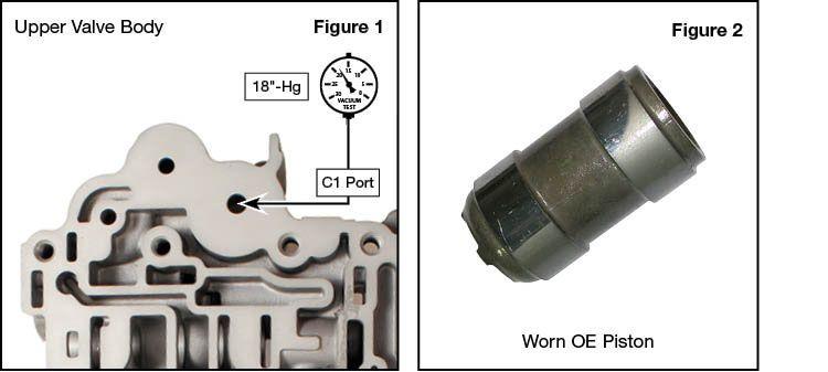U660E, U660F, U760E, U760F C1 Accumulator Piston Kit Vacuum Test Locations