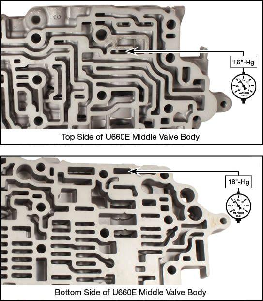 U660E, U660F, U760E, U760F Oversized Primary Pressure Regulator & Reverse Boost Valve Kit Vacuum Test Locations