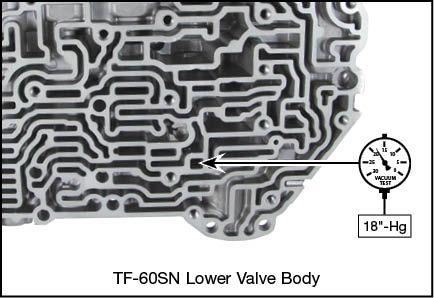 09G, 09K, 09M, 6F21WA, TF-60SN Boost Valve Kit Vacuum Test Locations