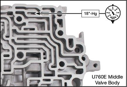 U760E, U760F Reverse Boost Valve Kit Vacuum Test Locations