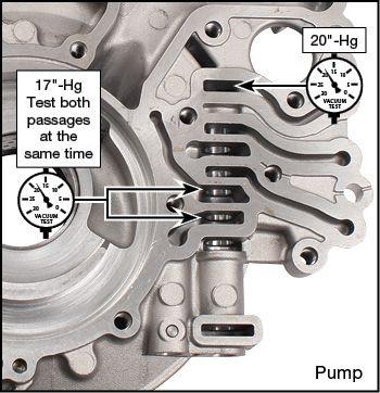 6T30, 6T40 (Gen. 1), 6T40 (Gen. 2), 6T45 (Gen. 2), 6T45 (Gen.1), 6T50 (Gen. 1), 6T50 (Gen. 2) Oversized TCC Control Valve Kit Vacuum Test Locations