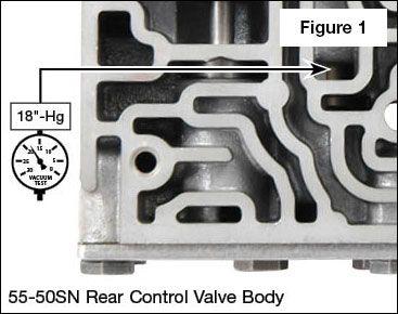 55-50SN, 55-51SN Shift Pressure Control Plunger Valve Kit Vacuum Test Locations