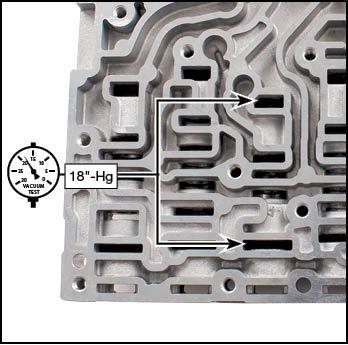 6R140 Oversized Forward Clutch Regulator Valve Kit Vacuum Test Locations