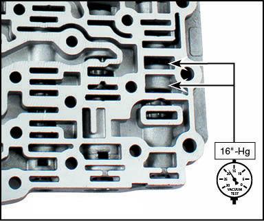CFT30 Oversized TCC Regulator Valve Kit Vacuum Test Locations