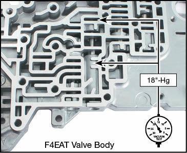 F4A-EL, F4EAT, FA4A-EL Oversized Converter Relief Valve Kit Vacuum Test Locations