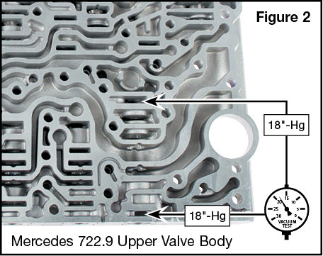 722.9 Oversized Working Pressure Regulator Valve Vacuum Test Locations