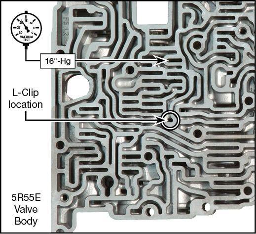 4R44E, 4R55E, 5R44E, 5R55E Oversized Solenoid Regulator Valve Kit Vacuum Test Locations
