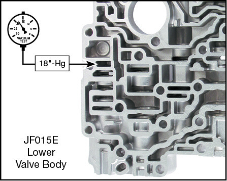 JF015E (RE0F11A) Oversized Solenoid Regulator Valve Kit Vacuum Test Locations