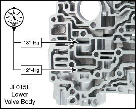 JF015E (RE0F11A) Oversized Torque Converter Lube Regulator Valve Kit Vacuum Test Locations