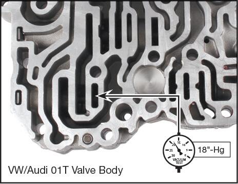 01J, 01T Oversized MDV Minimum Pressure Valve Kit Vacuum Test Locations