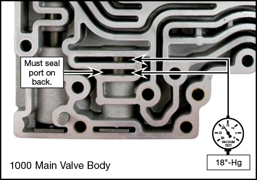 1000/2000/2400 Exhaust Backfill Valve Kit Vacuum Test Locations