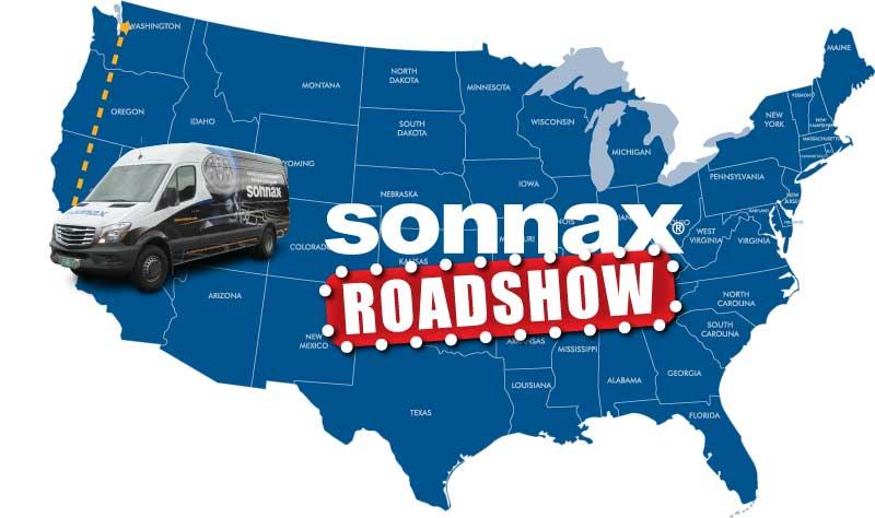 Sonnax tech van map san fran to seattle