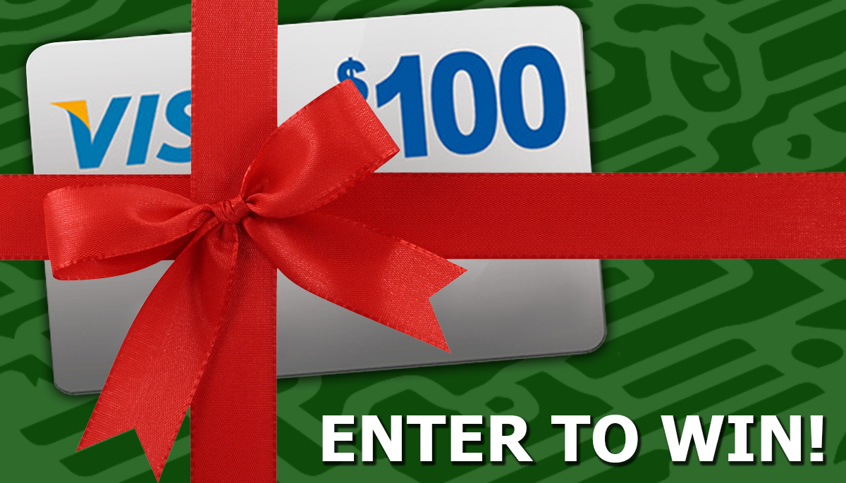 Holiday giveaway facebook ad 2016 green