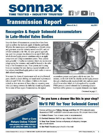 Sonnax transmission report cover july 2017