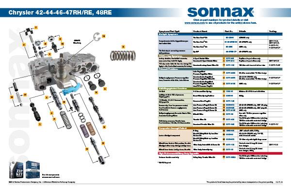 47RH 47RE 48RE Apply Lever Automotive Transmission & Drive Train ...
