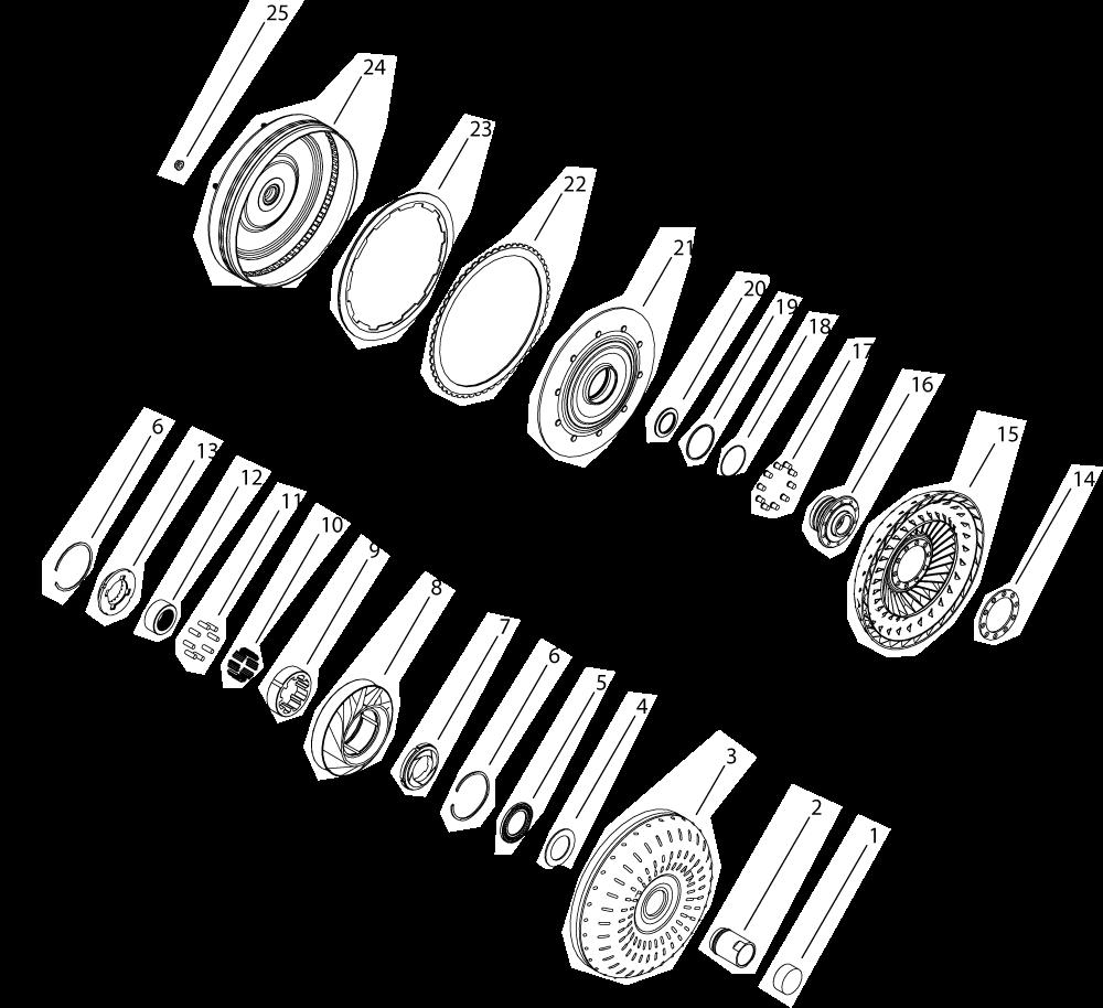 5r110w 6 stud w multi plate clutch kit